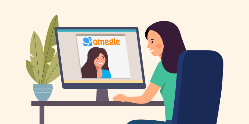 Two women talking to eachother on Omegle