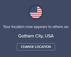 Avast SecureLine VPN Server Location Gotham City