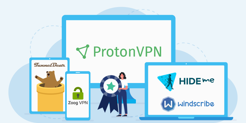 Selection of good free VPN providers