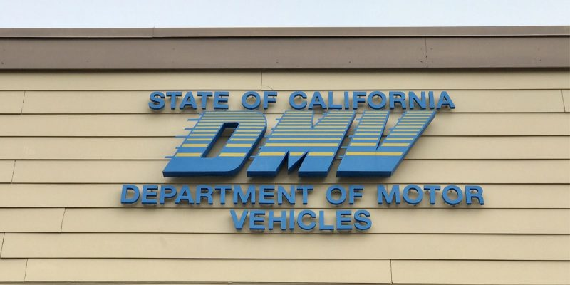 California DMV building sign