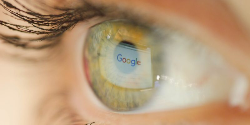 Photo of The Reflection of a Google Page on a Human Eye