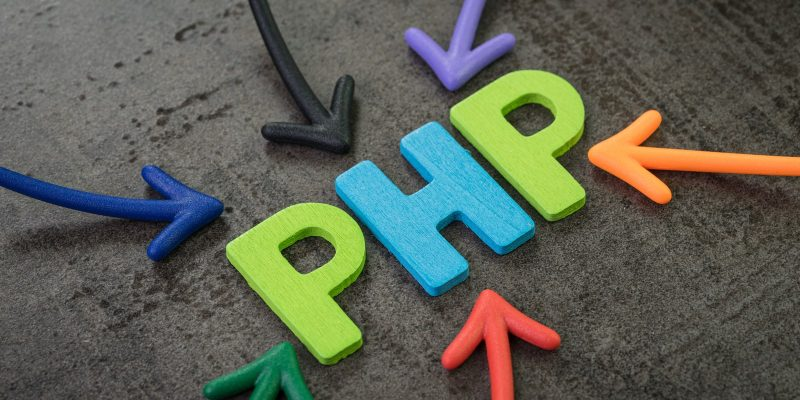 Photo of Arrows Pointing to PHP
