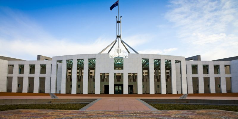 Australian Parliament House in Canberra. In Australia, one cyberattack is being reported every eight minutes