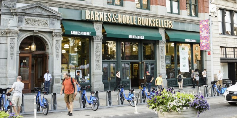 A Barnes and Noble store in New York, US