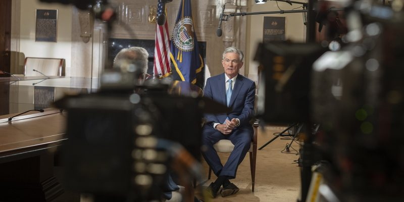 Chair Jerome Powell in an interview with 60 Minutes
