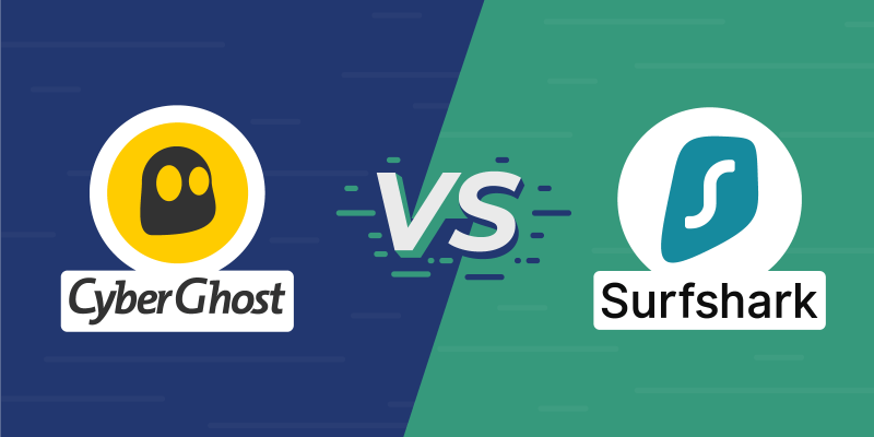 CyberGhost vs Surfshark Featured