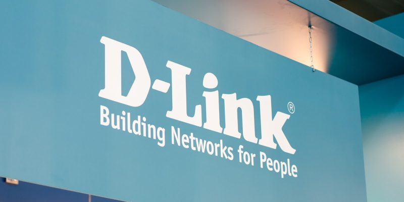 D-Link router company sign