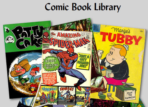 Dark Web Comic Book Library homepage