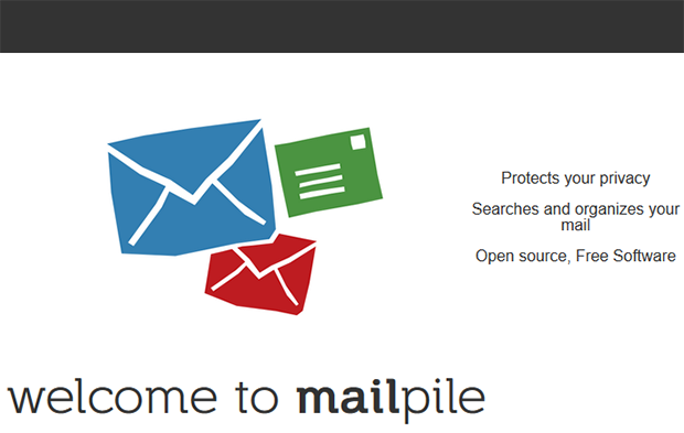 Dark Web Mailpile screenshot homepage