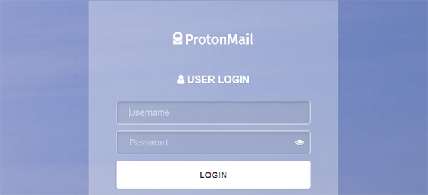 Dark Web ProtonMail screenshot homepage