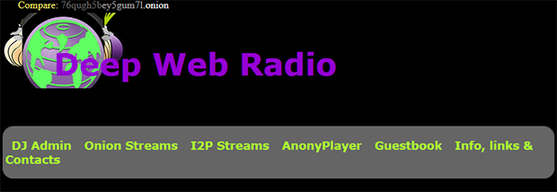 Deep Web Radio homepage