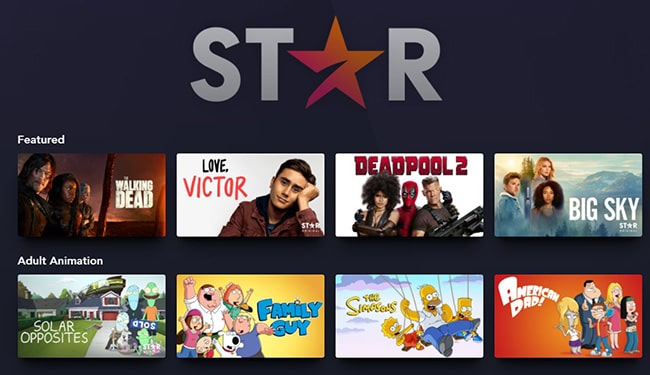 Disney Star Available Movies and Series