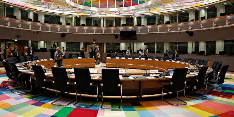 Plenary room in the European Council building