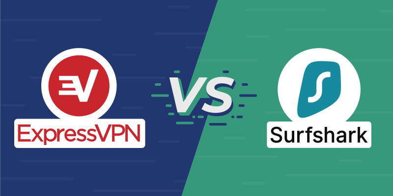 ExpressVPN vs Surfshark Featured