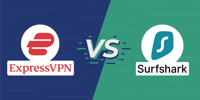 ExpressVPN vs Surfshark Featured Image