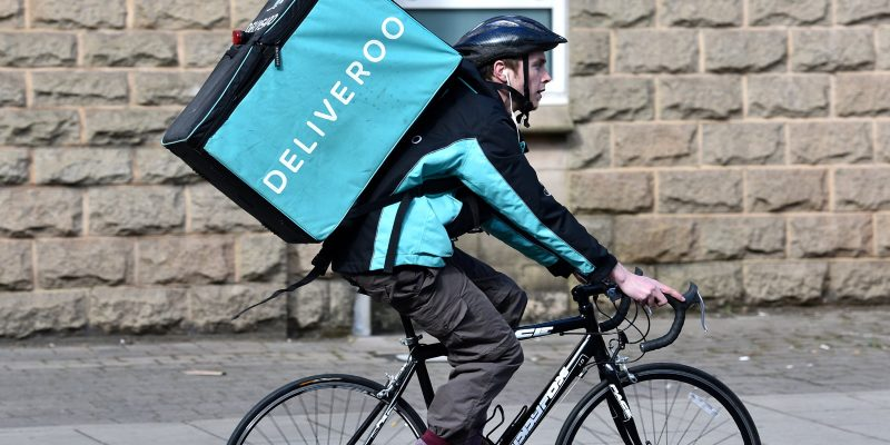Deliveroo delivery person