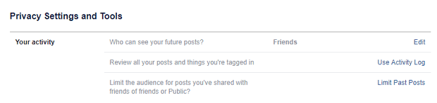 FB privacy past posts