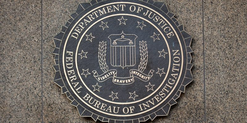 fbi logo on building