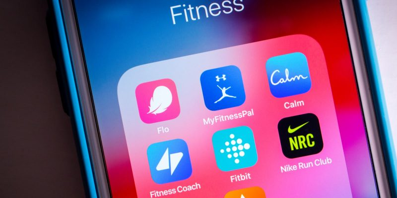 Flo and other popular health and fitness apps shown on iPhone screen