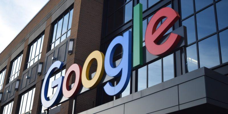 Google sign on Google building