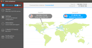 Graphic dispkay in linux app, world map with available servers