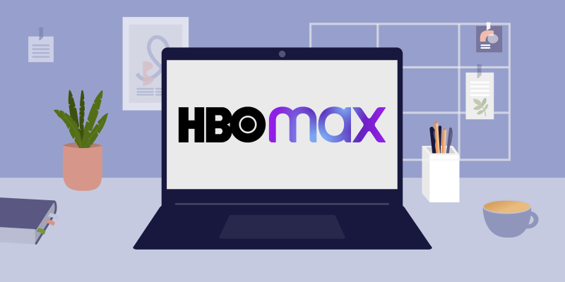 HBO Max Logo on computerscreen