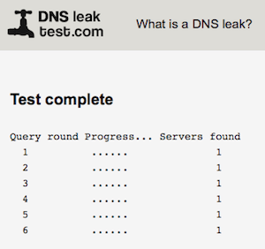 IP DNS Leak Test
