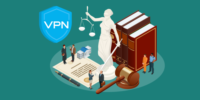 Is a VPN connection legal featured