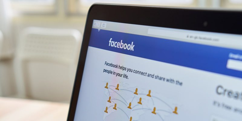 Laptop Screen with the Facebook Login Page