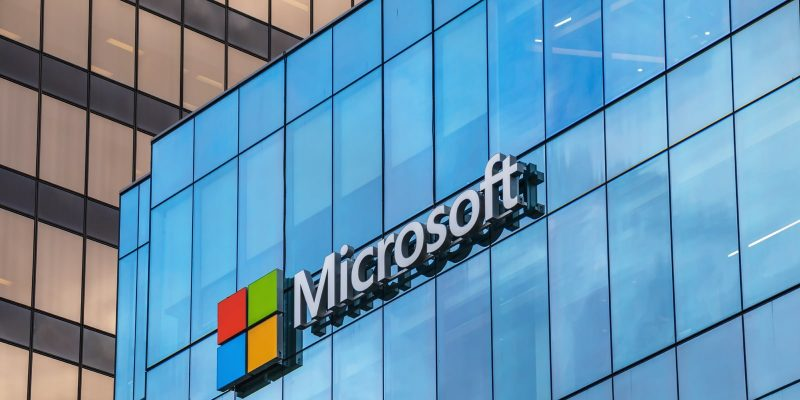 Microsoft sign on building