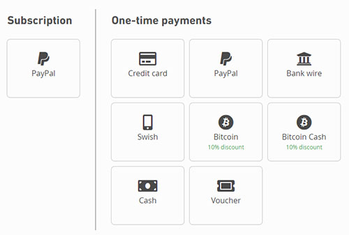 Mullvad payment methods
