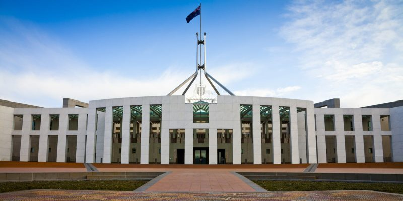 the Australian Parliament House in Canberra
