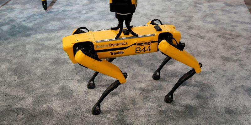 Robot Dog Boston Dynamics - same robot dog family as Digidog from NYPD police