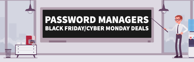 Password Managers Black Friday Cyber Monday Banner