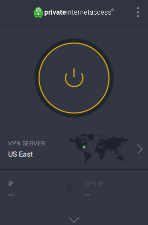 PIA VPN Screen