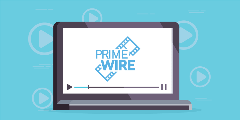 Laptop screen with PrimeWire logo