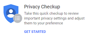 Privacy checkup small