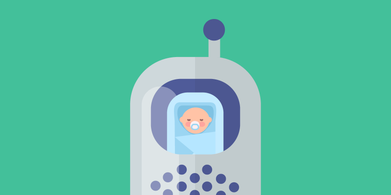 Baby on baby monitor