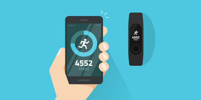 Pedometer and smartphone step tracker