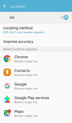 Privacy settings android