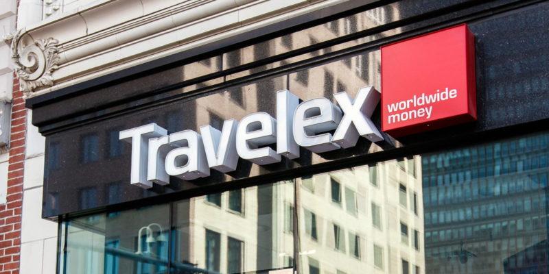 Travelex sign on building