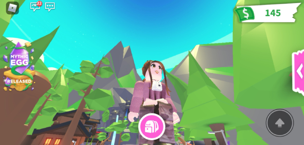 Roblox Game Screenshot of Player Character