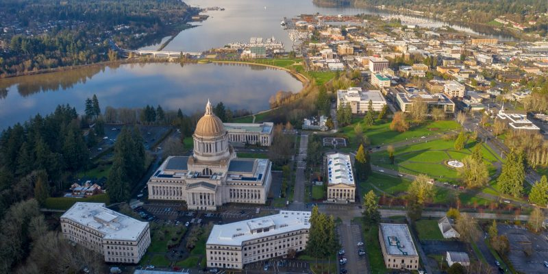 The City of Olympia in Washington State, the area where Employment Security Department is located