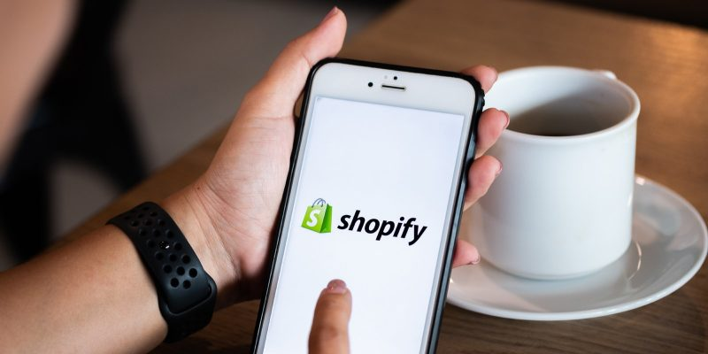 Shopify app on phone