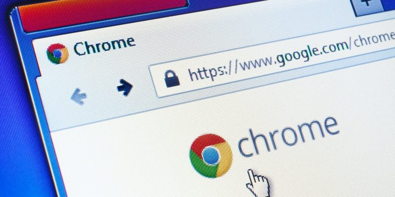 Photograph of Google Chrome Browser