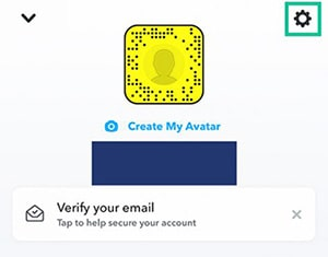 Access settings on Snapchat