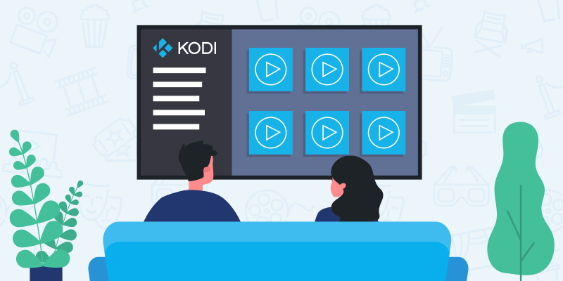 Two people looking for a movie on Netflix on Kodi