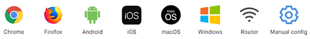 Surfshark Operating Systems Icons