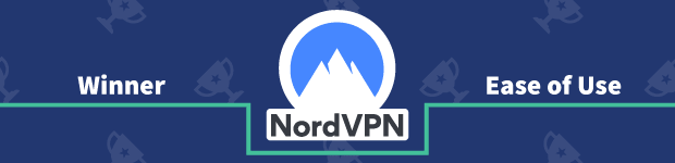 VPN Provider vs Provider Winner Ease of Use Banner NordVPN