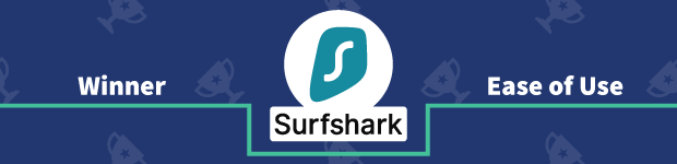 VPN Provider vs Provider Winner Ease of Use Banner Surfshark